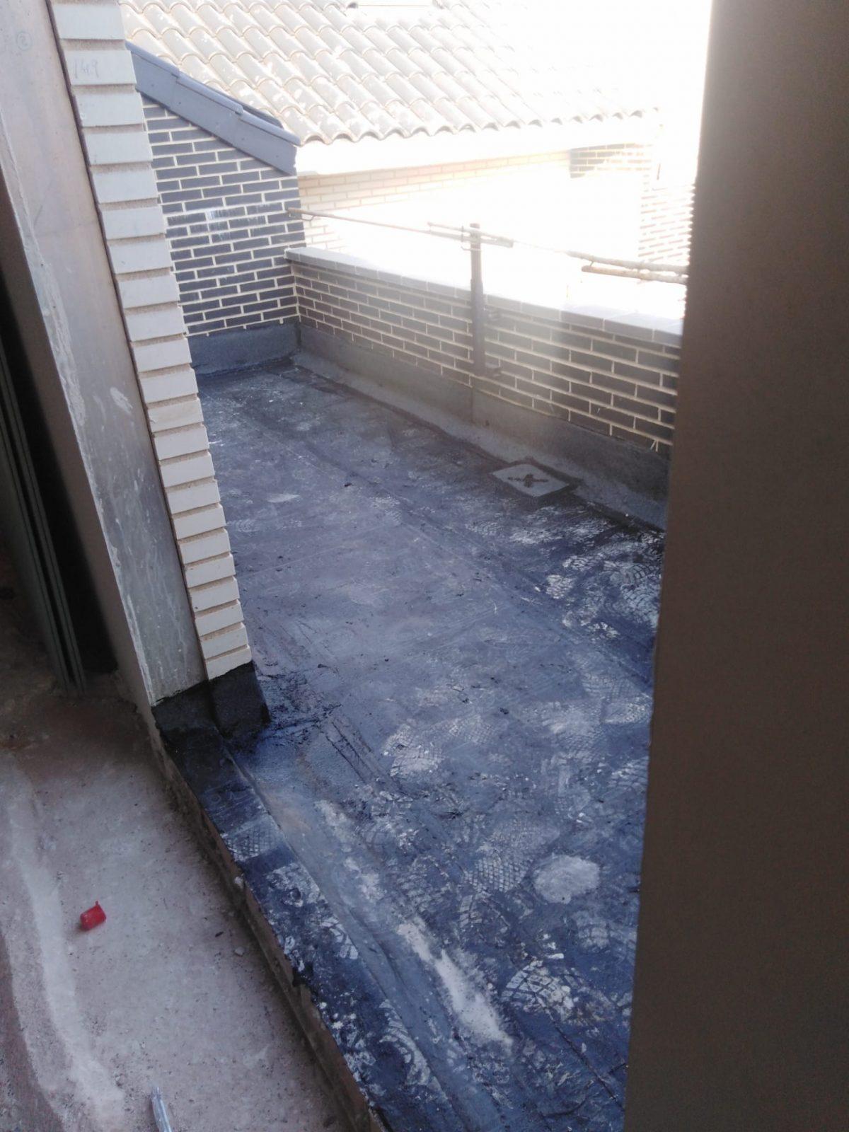Impermeabilización de terrazas con tela asfáltica